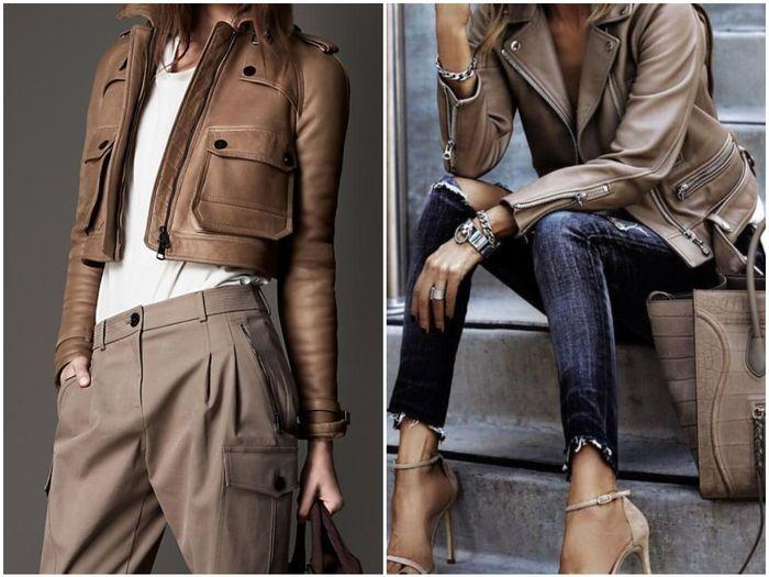 стильные куртки из кожи