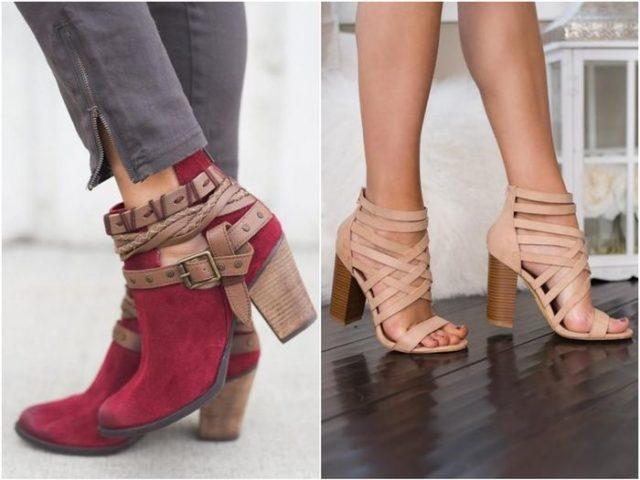 Ремешки на женской обуви