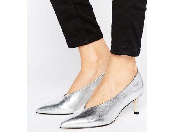 туфли цвета серебро