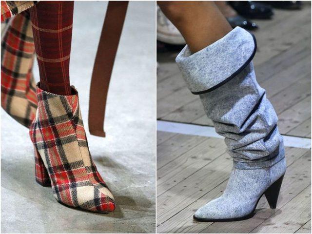 высокие ботинки и сапоги с широким голенищем