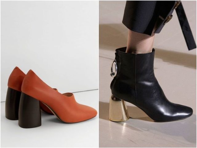 Женские ботинки с необычным каблуком