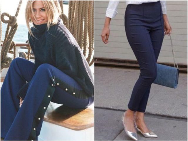 Девушки в синих брюках