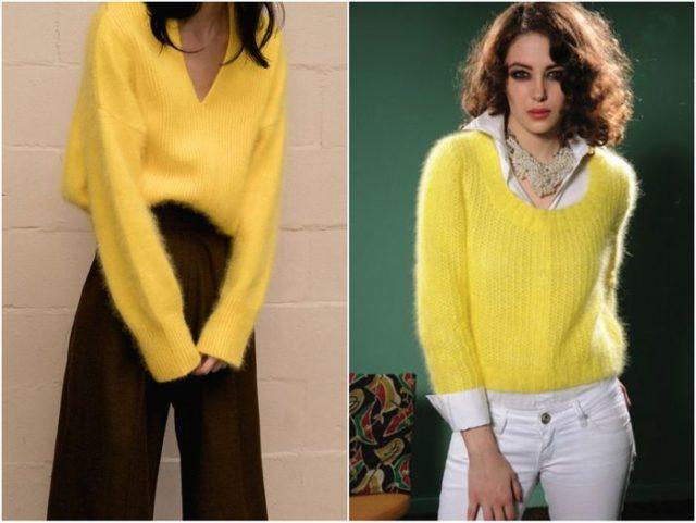 желтые свитера