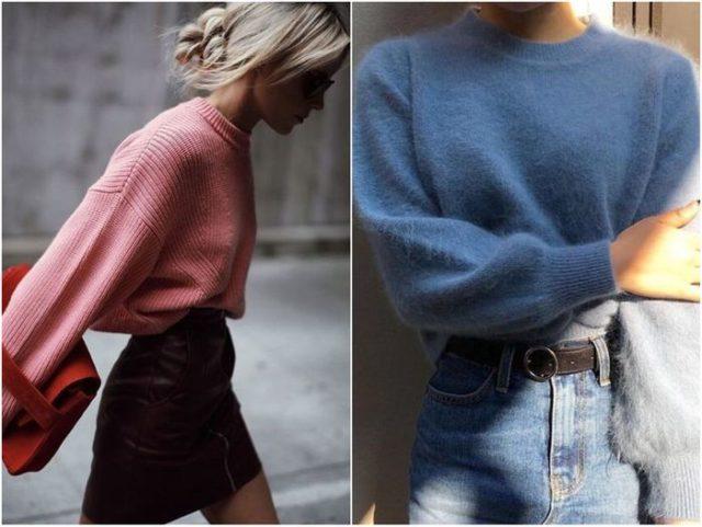 короткие свитера