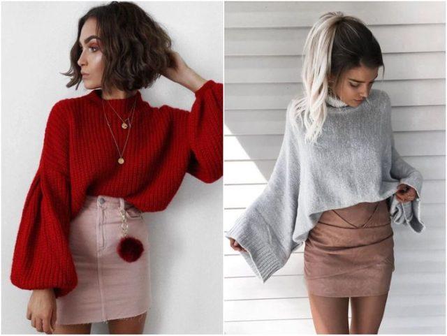 свитера с широкими рукавами