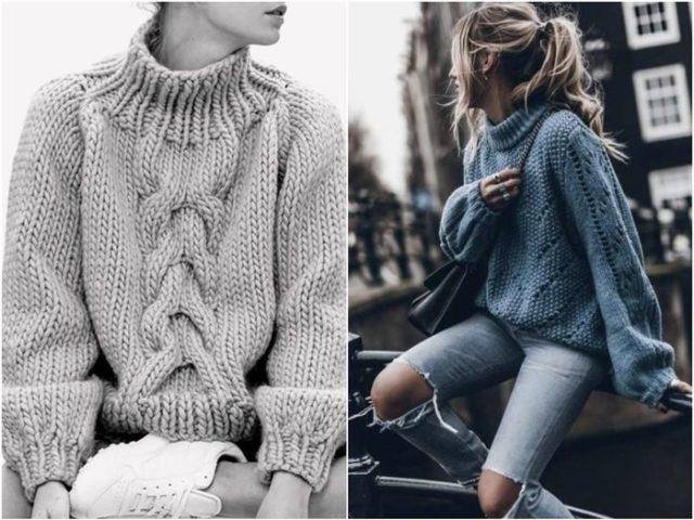 свитера с узорами