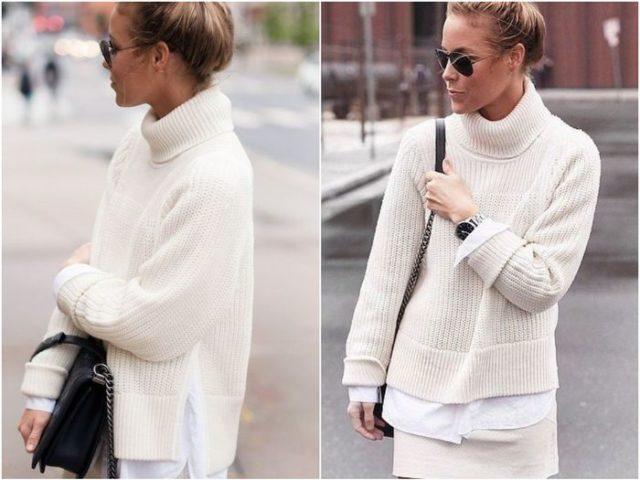 свитера белые