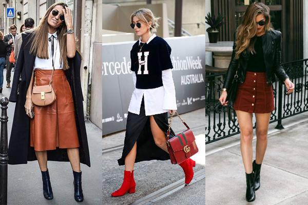 Ботильоны и юбка