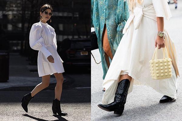 Черные казаки с белым платьем