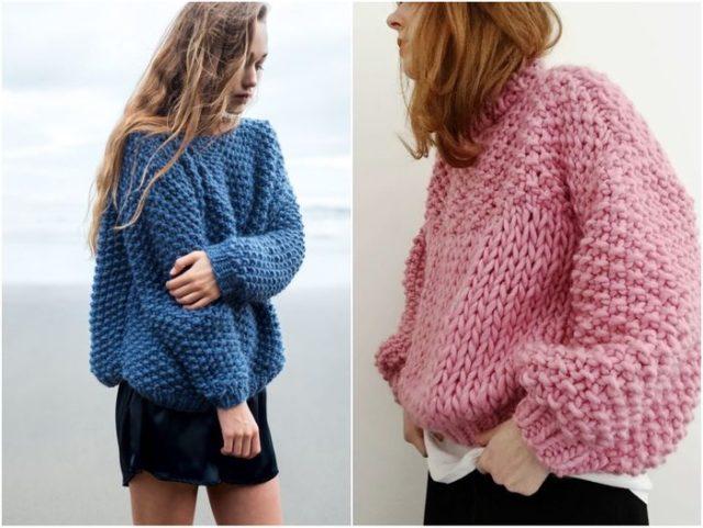 свитеры в стиле hand made