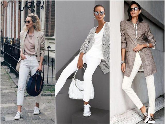Лучшая обувь к белым джинсам