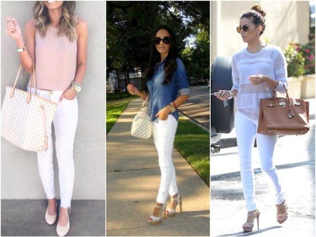 Летняя обувь к белым джинсам