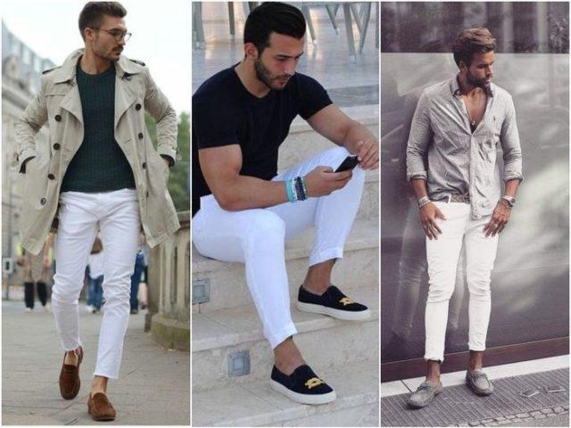 мужские белые брюки 1