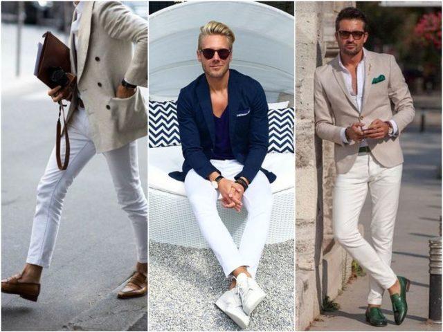 мужские белые джинсы