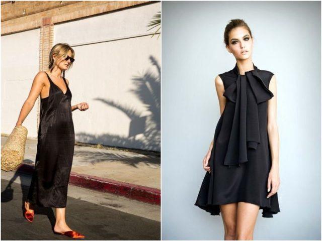 модели чёрного платья