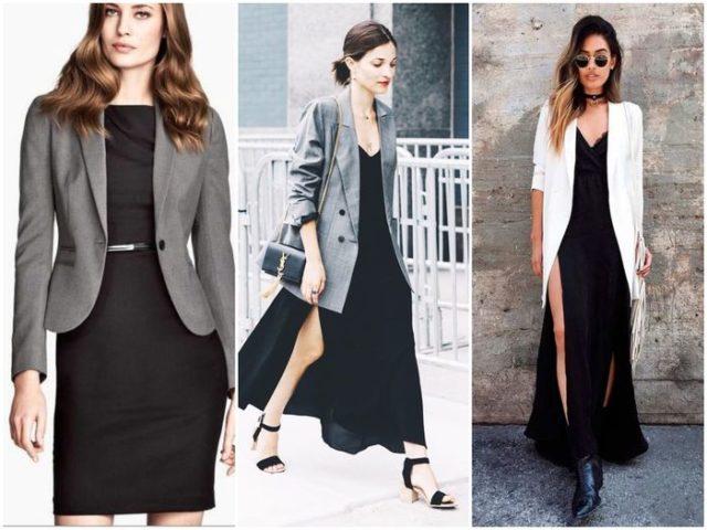 Пиджаки в сочетании с платьем