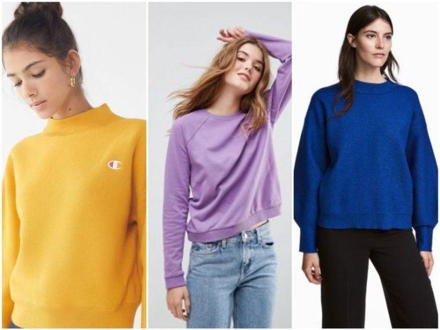 цветные женские свитера