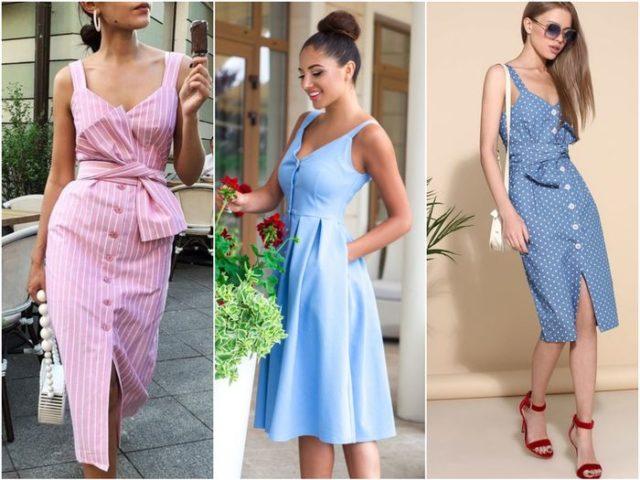 цветовая гамма трендовых платьев
