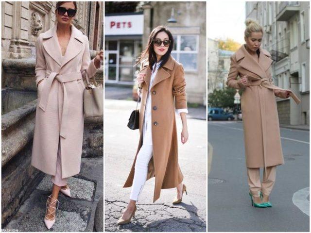 пальто в светлых тонах