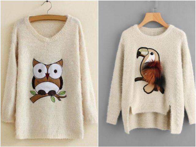 Женские пуловеры с рисунками
