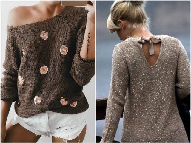 Вышивки на пуловере