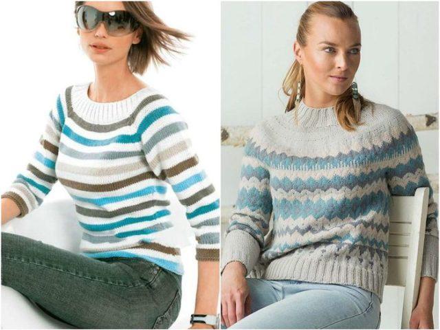 Женские пуловеры с узорами