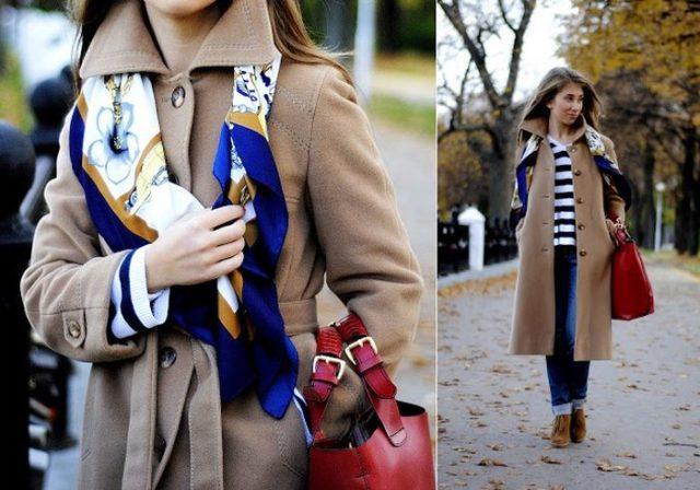 Косынка с пальто
