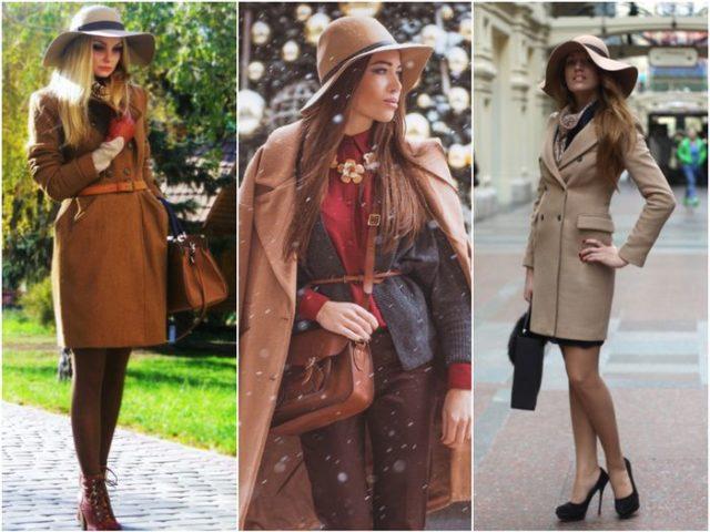 Шляпки с пальто