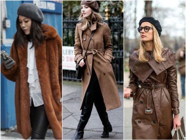 Берет с пальто
