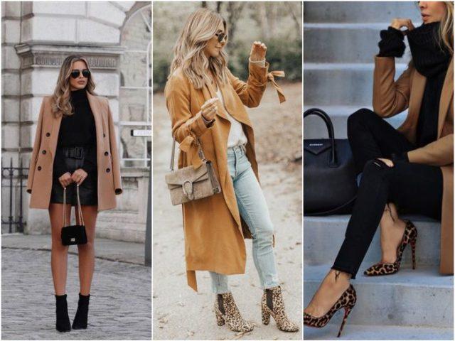 Модная обувь с пальто
