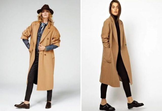 Светло коричневое пальто