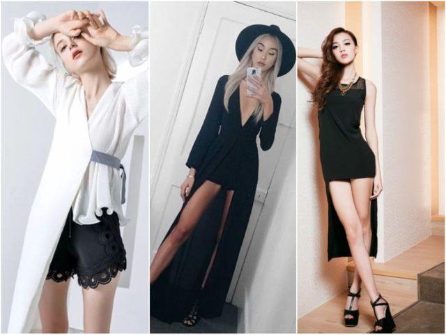 Шорты с прозрачным или гипюровым платьем