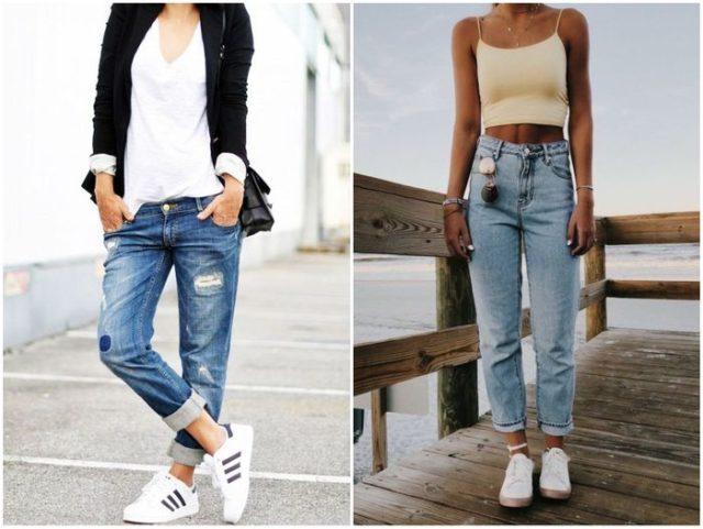 Сникерсы с джинсами
