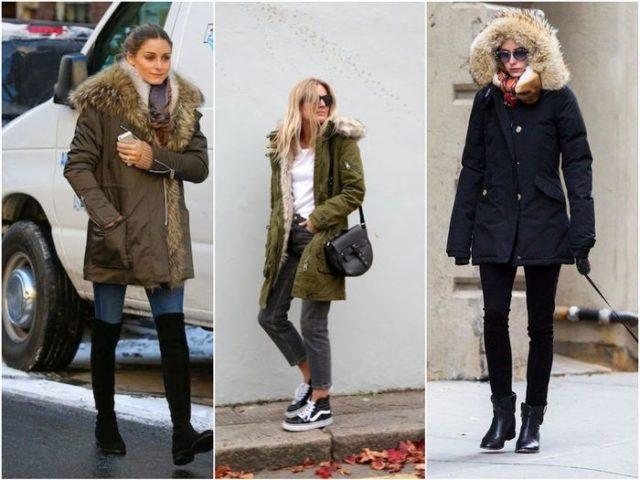 Классические модели женских зимних парок