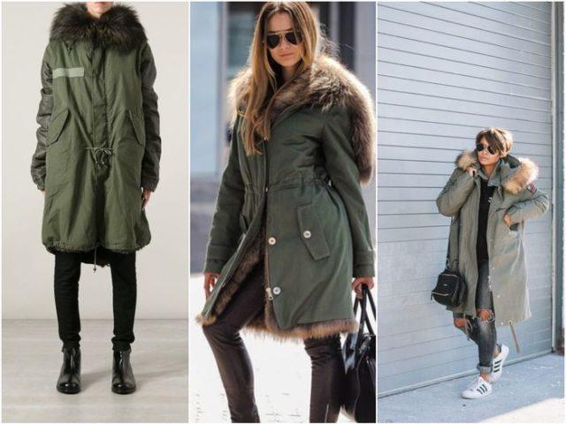 Модные женские куртки парки