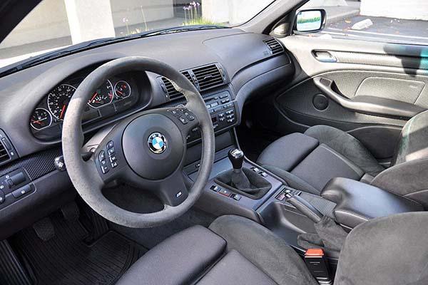 Салон BMW с отделкой алькантарой