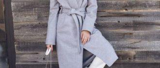 Светло сиреневое пальто