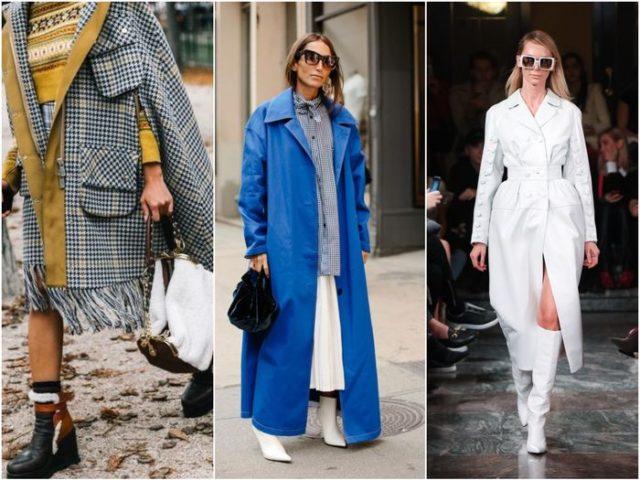 Сочетание сумок с пальто