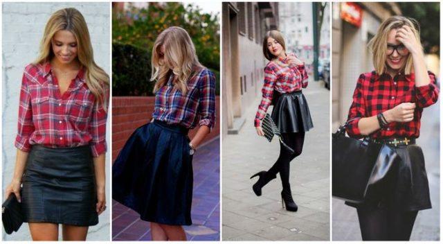 Кожаные юбки мини