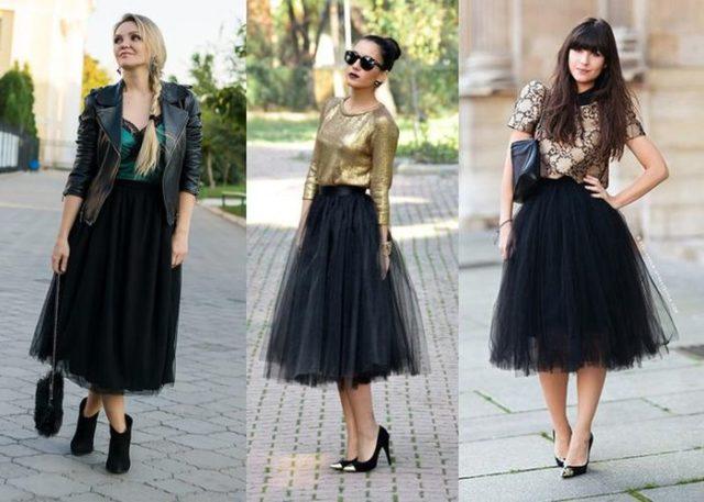 Многослойные юбки