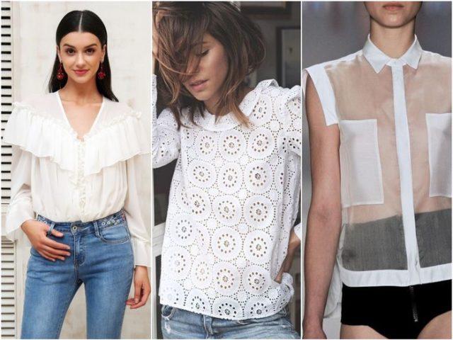 кружевные и полупрозрачные рубашки