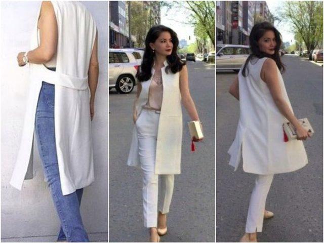 Женские жилеты белого цвета
