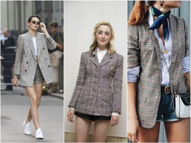 Пиджак с короткими шортами