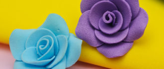 Цветочки из фомирана