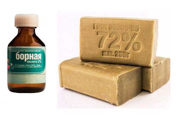 Борная кислота и хозяйственное мыло
