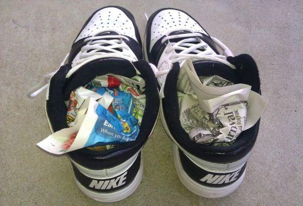 Газеты в обуви