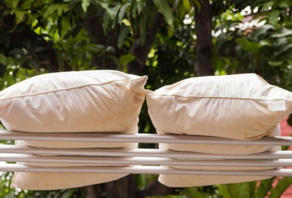Подушки на решетке сушка