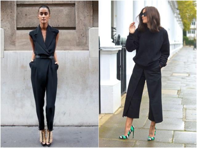 Черные женские модели брюк