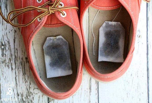 Чайные пакеты в обуви