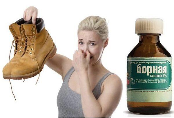Борная кислота для устранения запаха в обуви